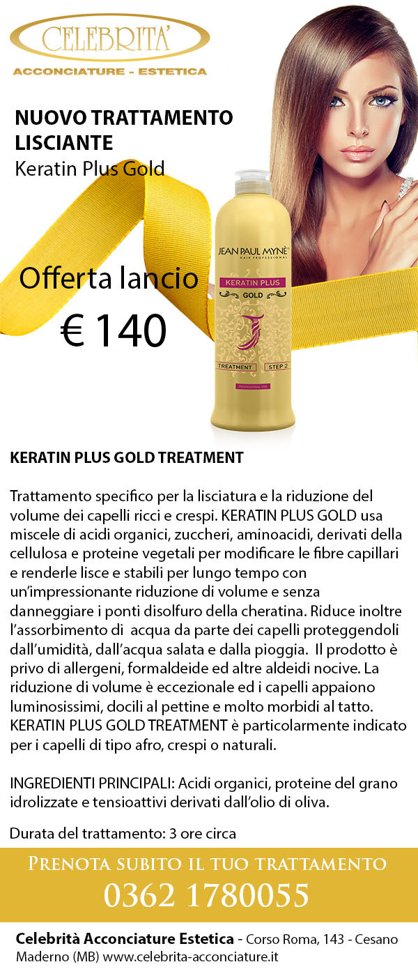KERATIN PLUS GOLD TREATMENT 140